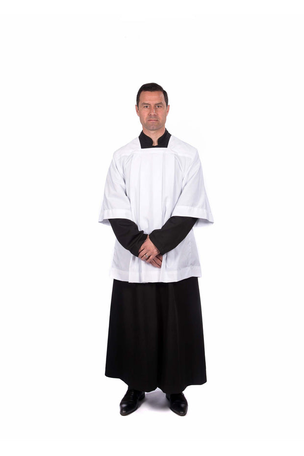 Traditional Choir/Servers Cotta - Pleated or Gathered - Adult