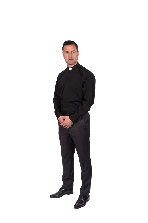 Reliant Men's Long Sleeved Clergy Shirt