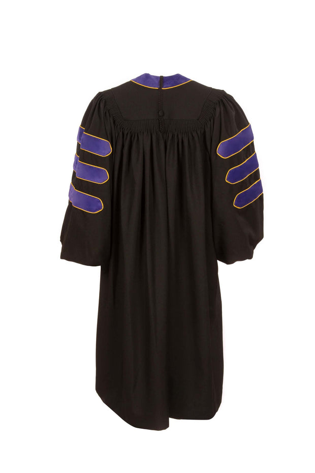 American Doctoral Gown with Piping