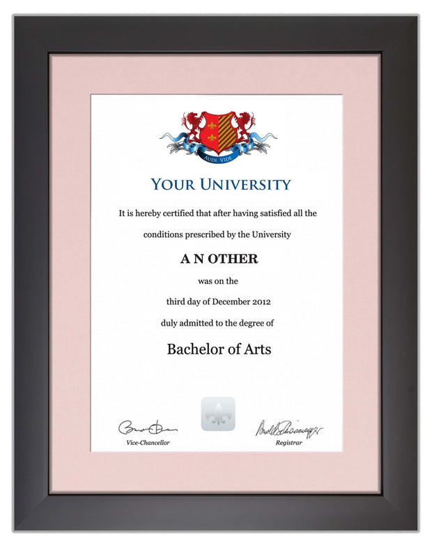 Degree / Certificate Display Frame - Modern Style