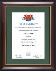Degree / Certificate Display Frame - Traditional Style