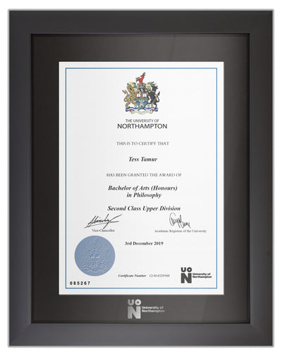 UoN | Degree / Certificate Display Frame - Modern Style