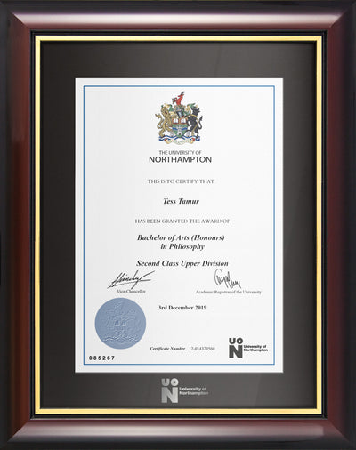 UoN | Degree / Certificate Display Frame - Traditional Style