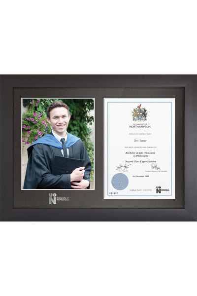 UoN | Dual Graduation Certificate and Photo Frame - Modern Style