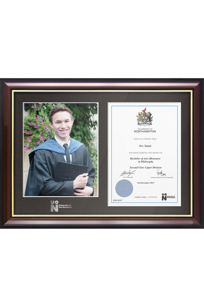 UoN | Dual Graduation Certificate and Photo Frame - Traditional Style