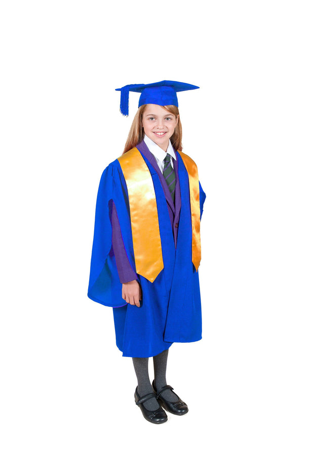 Traditional Primary School Graduation Gown, Cap and Stole