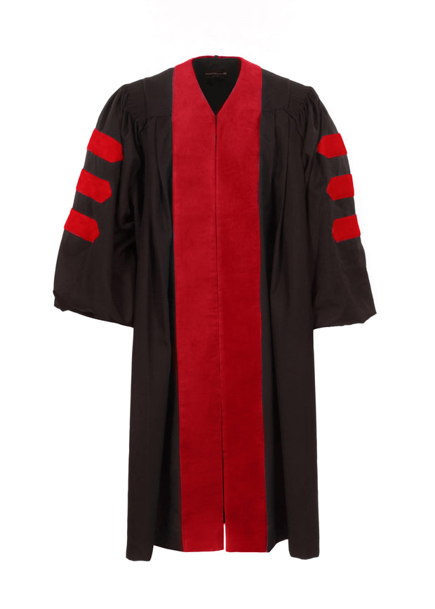 American Doctoral Gown with No Piping