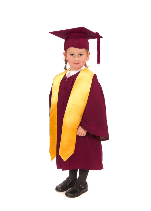 Matte Nursery Graduation Gown, Cap and Stole