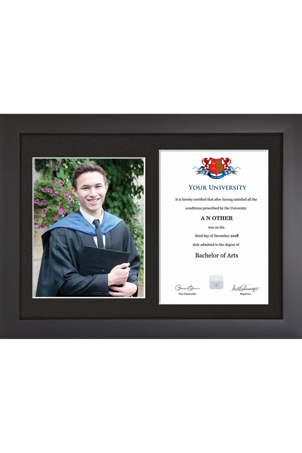 Dual Graduation Certificate and Photo Frame - Modern Style