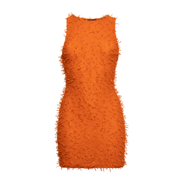 FLUFFY ORANGE DRESS
