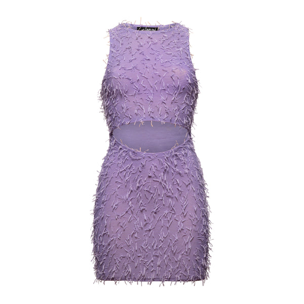 FLUFFY LILA DRESS