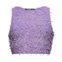 FLUFFY LILA TOP