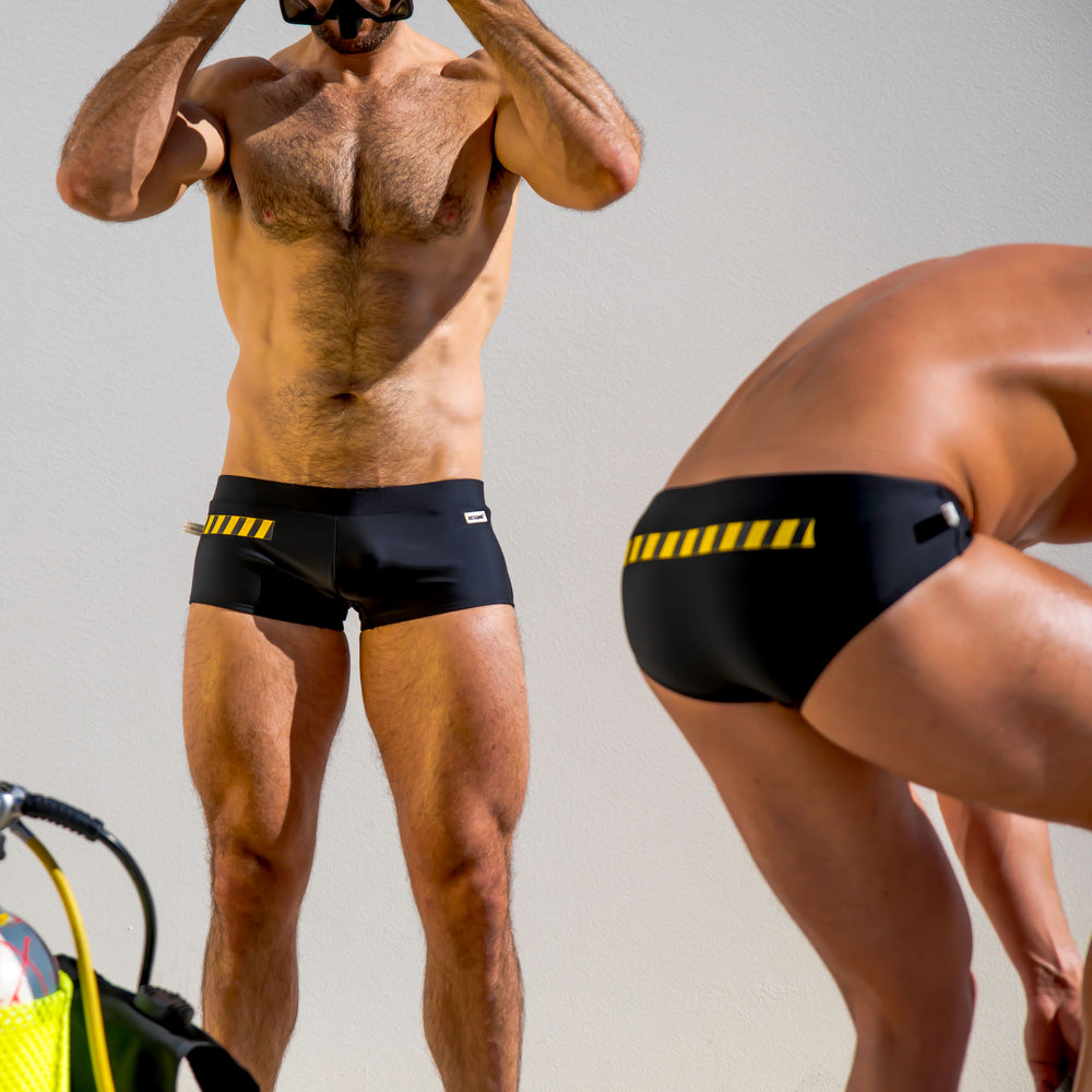 Extreme Caution- Black brief