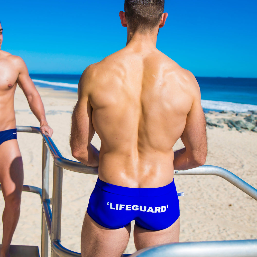 Lifeguard-Blue trunk