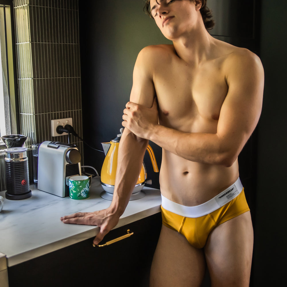 BRIEF- MUSTARD YELLOW