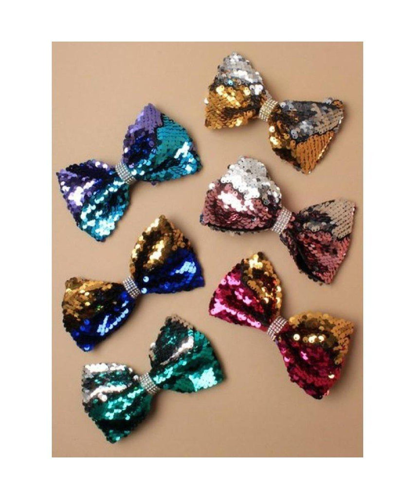 Colour Change Sequin Bow-Accessories-Enpoint Dancewear