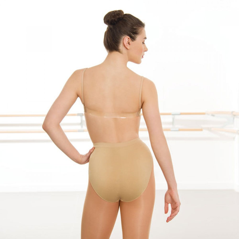 Silky Seamless Clear Back Bra Top-Accessories-Enpoint Dancewear