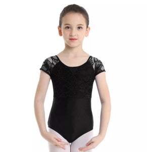 Lace Capped Sleeve Leotard