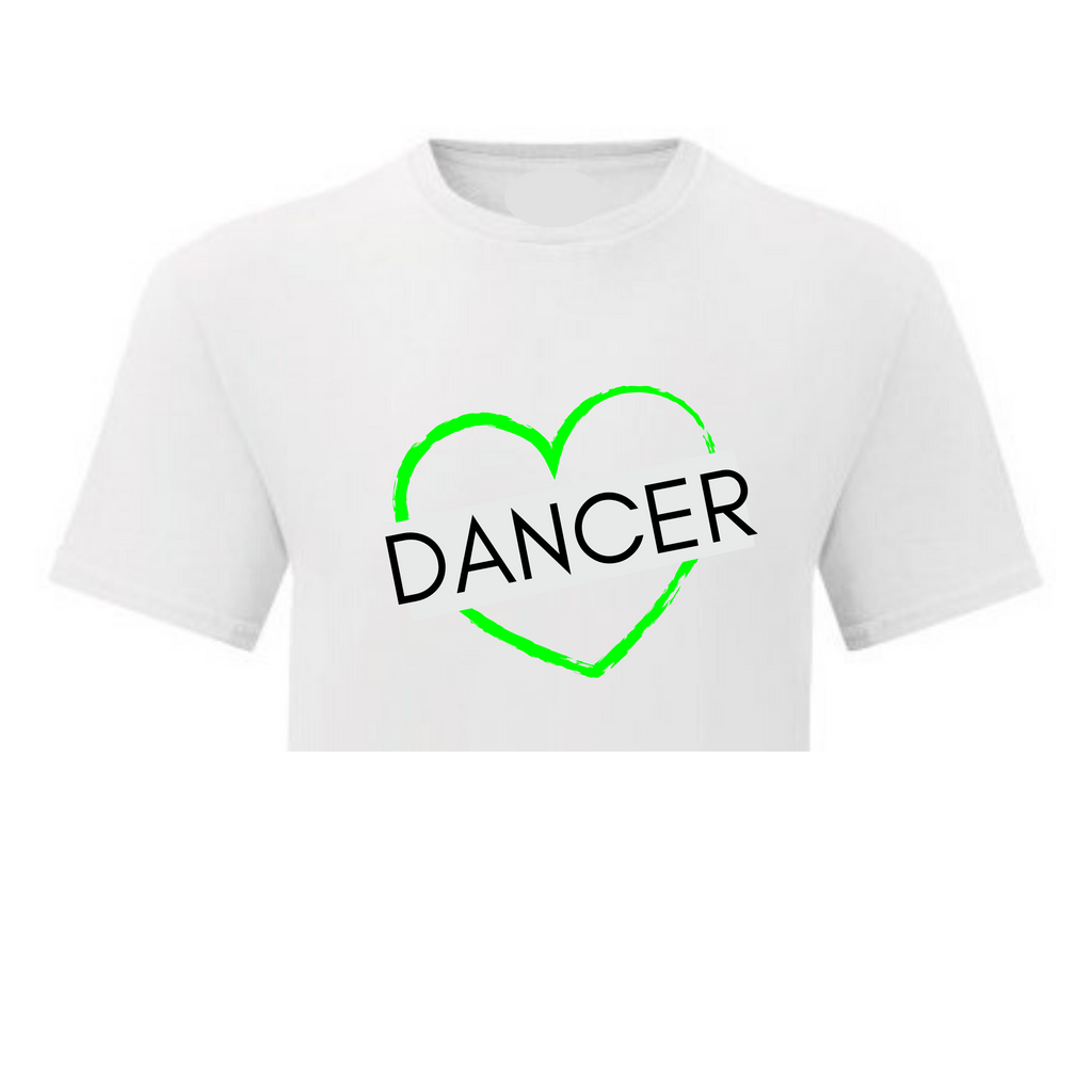 Electric Heart Cropped T-shirt