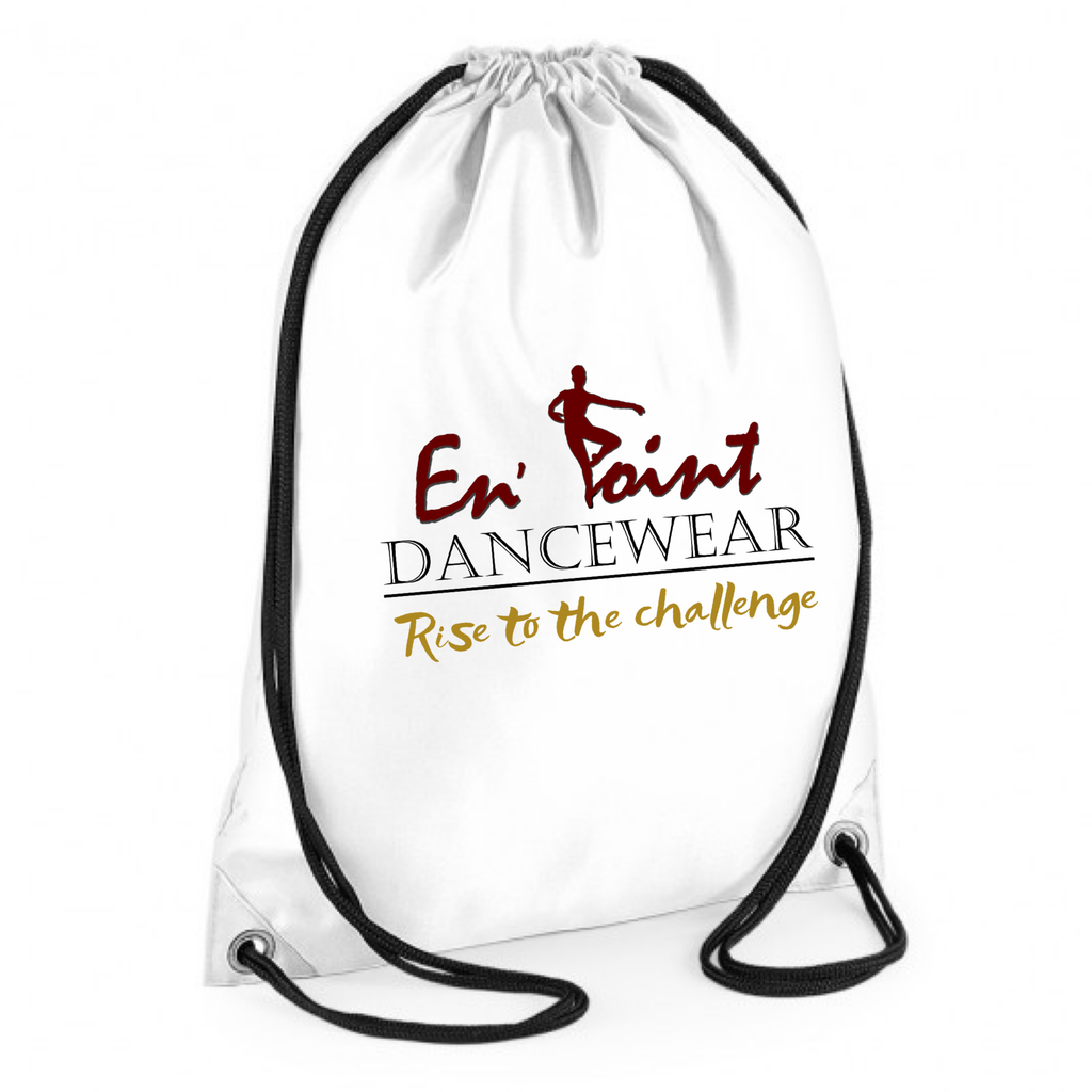 En' Point Dancewear Slogan Drawstring Bag