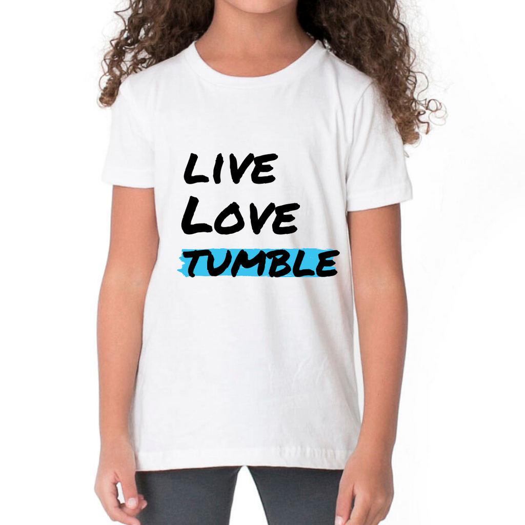 Live, Love, Tumble Slogan T-shirt