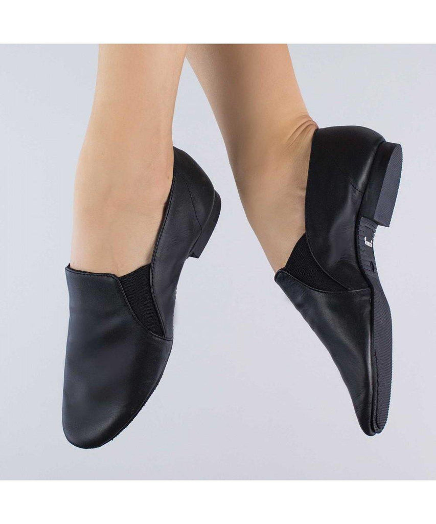 1st Position Side Gusset Slip On Full Sole Jazz Shoes-Footwear-Enpoint Dancewear