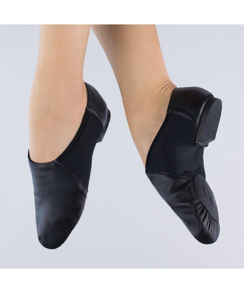 1st Position Split Sole Stretch Jazz Shoes-Footwear-Enpoint Dancewear