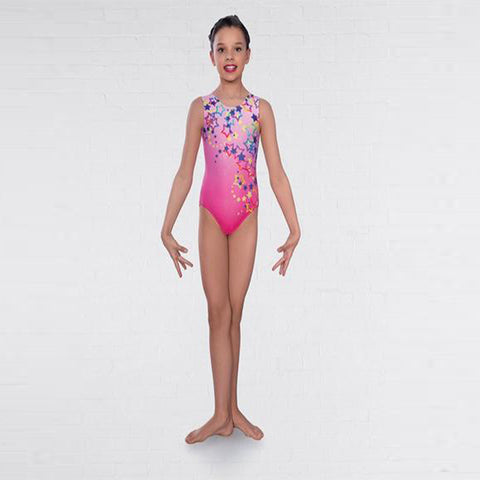 Star Print Gymnastics Leotard