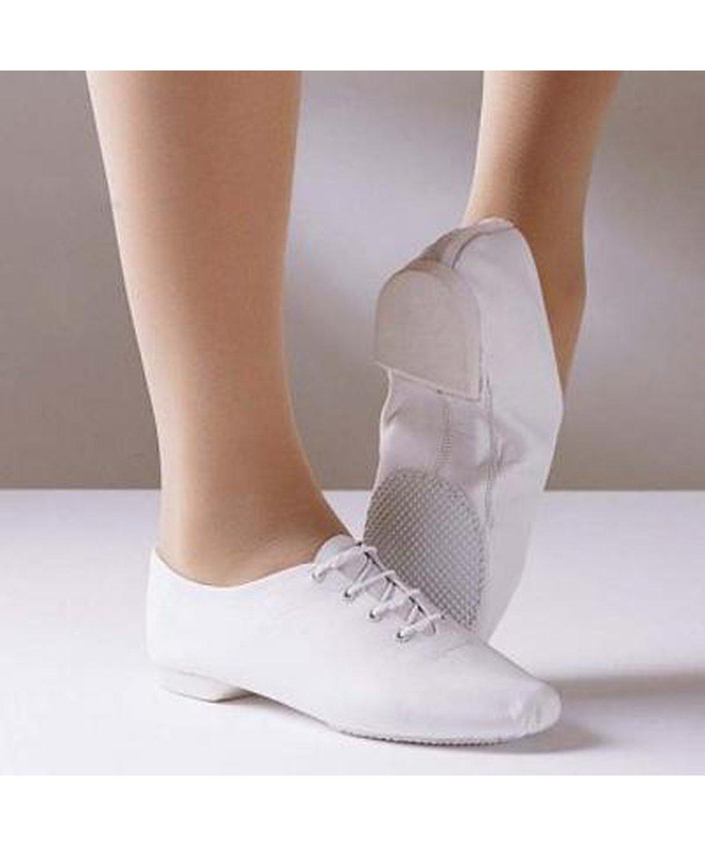 1st Position White Split Sole Jazz Shoes-Footwear-Enpoint Dancewear