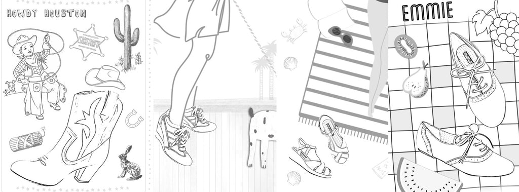 Cute Shoes To Fill Printable Coloring Book Pages For A Dose Of Cr B A I T Footwear