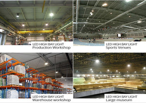 GENPAR UFO LED High Bay Light 800W HPS/MH Equivalent 26000LM lumens Daylight White 6000-6500K IP65 Waterproof Warehouse Lighting Fixture Commercial Lighting Factory Shop Industrial (40-PK)