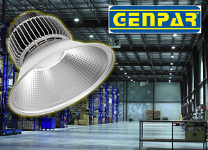 GENPAR 200-W HIGH BAY LED (4 PK) Lighting COMMERCIAL Warehouse Hanging Industrial Grade Lamp Reflector 600W HPS HID EQUIVALENT 5500K 20000lm IP44