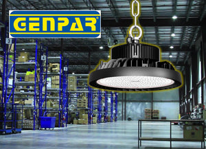 GENPAR 150W UFO LED High Bay Light 500W HPS/MH Equivalent 21000LM lumens Daylight White 6000-6500K IP65 Waterproof Warehouse Lighting Fixture Commercial Lighting Factory Shop Industrial Garage