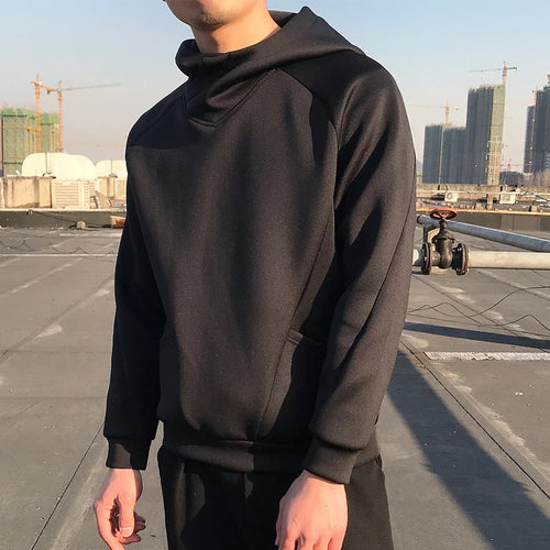 Basic Black Hoodie - The Crepuscule
