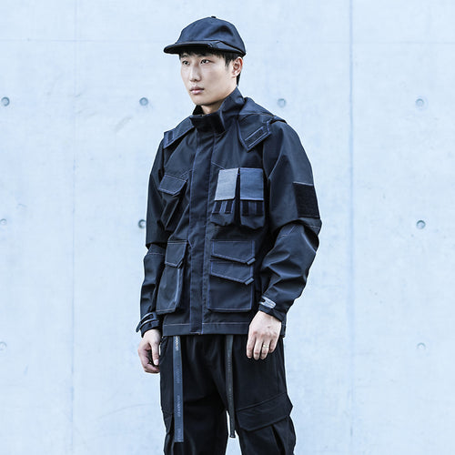 ENSHADOWER  multi-pocket  BLACK jacket - The Crepuscule