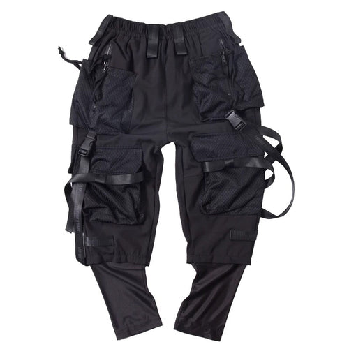 Multi-Layered Strapped Joggers - The Crepuscule
