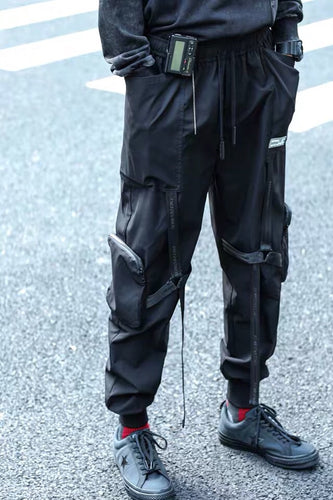 Enshadower Cross Strapped Joggers - The Crepuscule