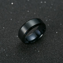 Load image into Gallery viewer, Titanium Black Ring - The Crepuscule