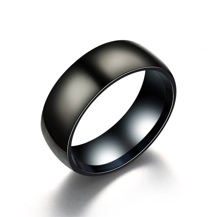 Black Titanium Ring - The Crepuscule