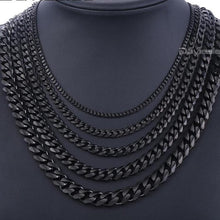 Load image into Gallery viewer, Black Stainless Steel Chains Necklace - The Crepuscule