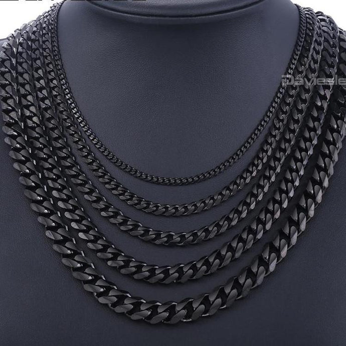 Black Stainless Steel Chains Necklace - The Crepuscule