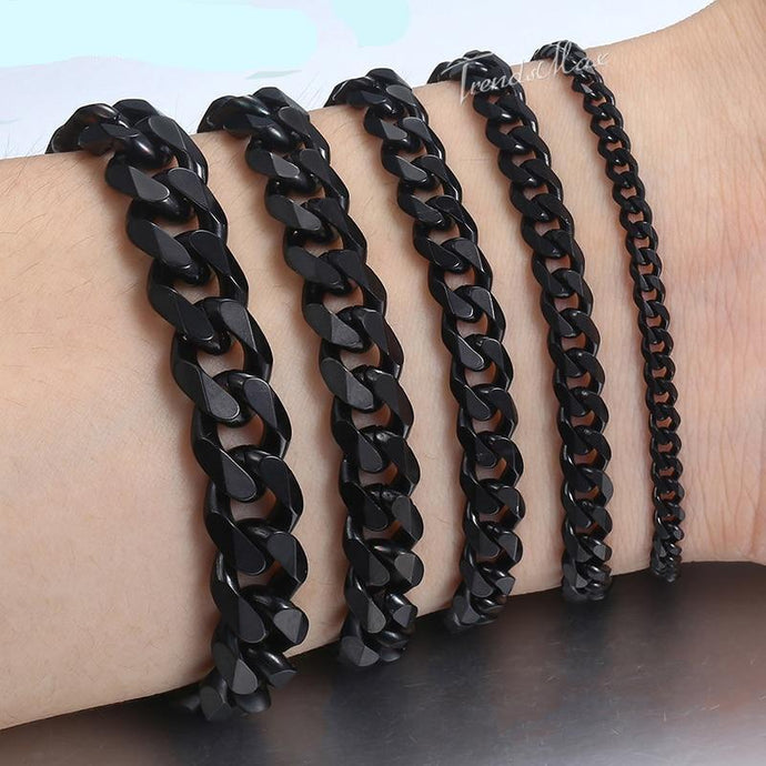 Black Stainless Steel Bracelet - The Crepuscule
