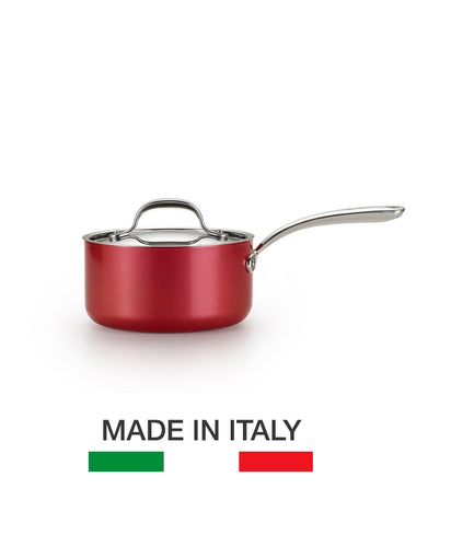 Lagostina Rossella 20cm Saucepan - Made in Italy, RUBY RED