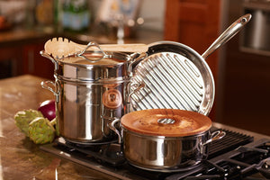Lagostina Heritage Collection 28cm Stainless Steel Grill Pan