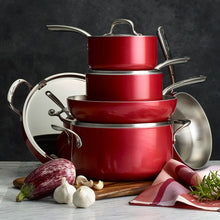 Load image into Gallery viewer, Lagostina Stainless Steel Rossella Collection 30cm Wok - Made in Italy, STUNNING RED COLOR