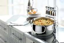 Load image into Gallery viewer, from stovetop to oven to counter top and your dining table. Make your perfect recipes and showcase in the same stewpot. For beautiful beef stew to pasta inspired from italian recipes, cook your ideal recipe in Melodia Collection from Lagostina
