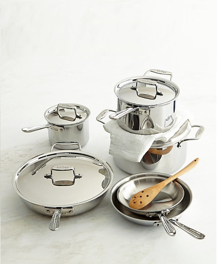 All-Clad SD501010-R 10pc Stainless Steel Cookware Set