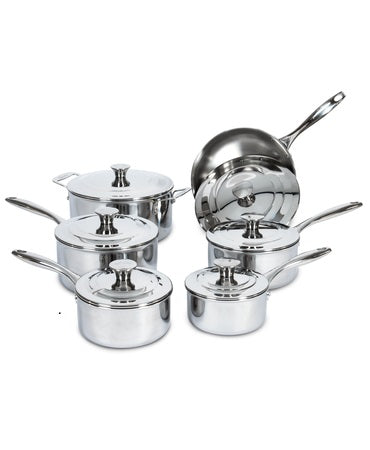 Lagostina Expert Clad Three-Ply Stainless Steel 12-Piece Cookware Set