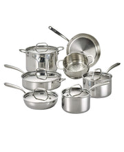 Load image into Gallery viewer, Lagostina Tri-Ply Stainless Steel Multiclad 12pc Cookware Set