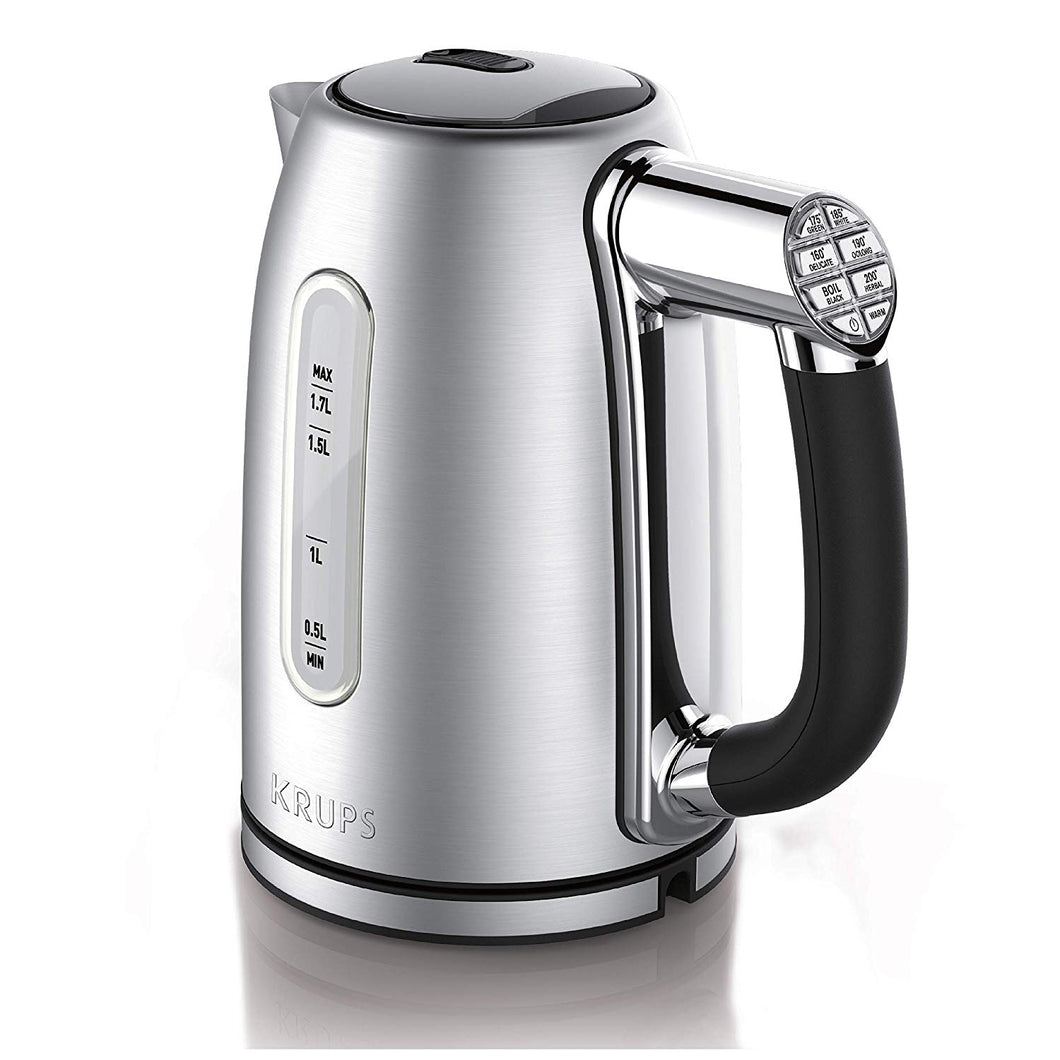 KRUPS BW710D51 1.7L Adjustable Temperature Kettle, Silver